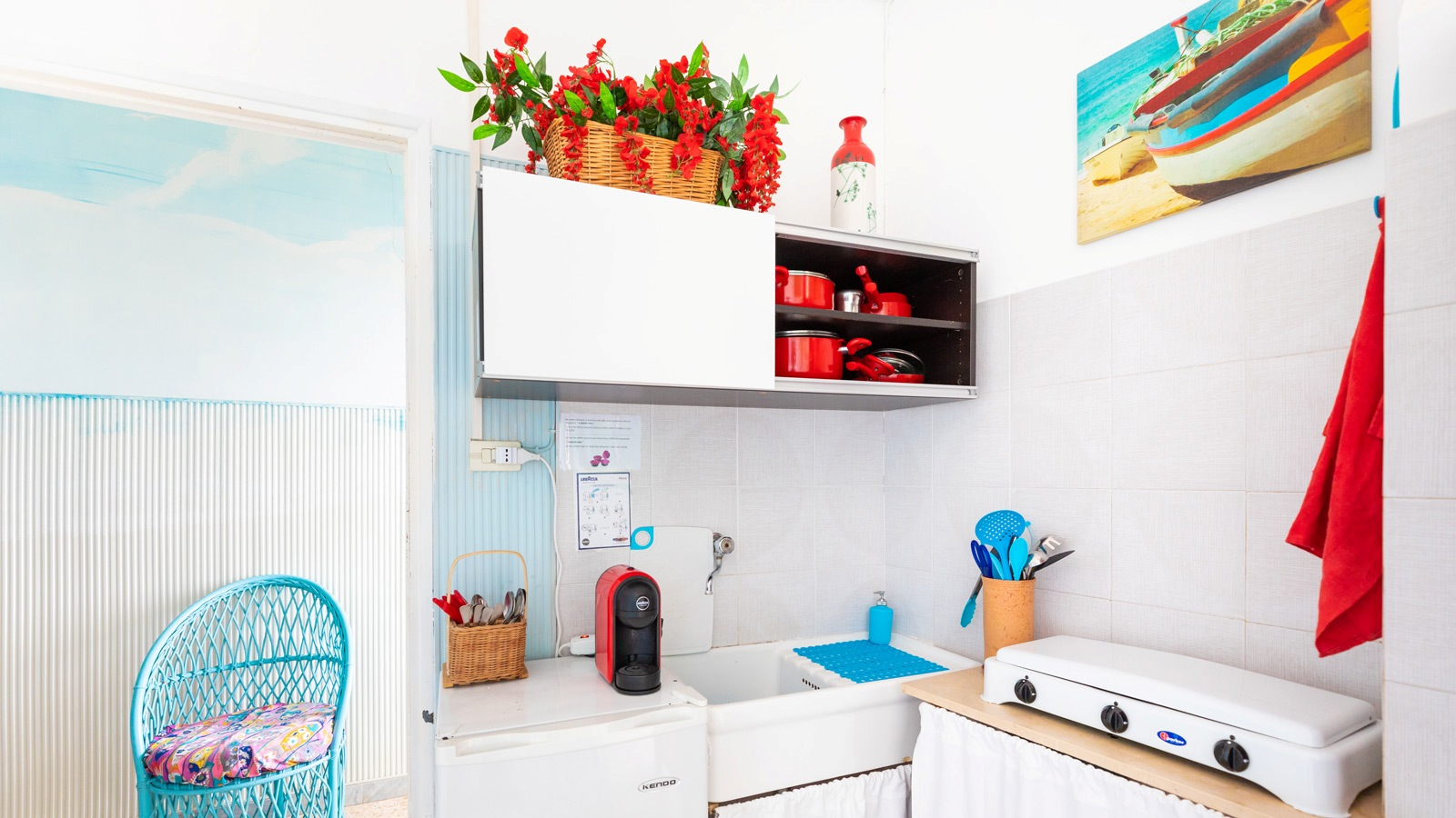 vacanze ostuni casa corallo cucina