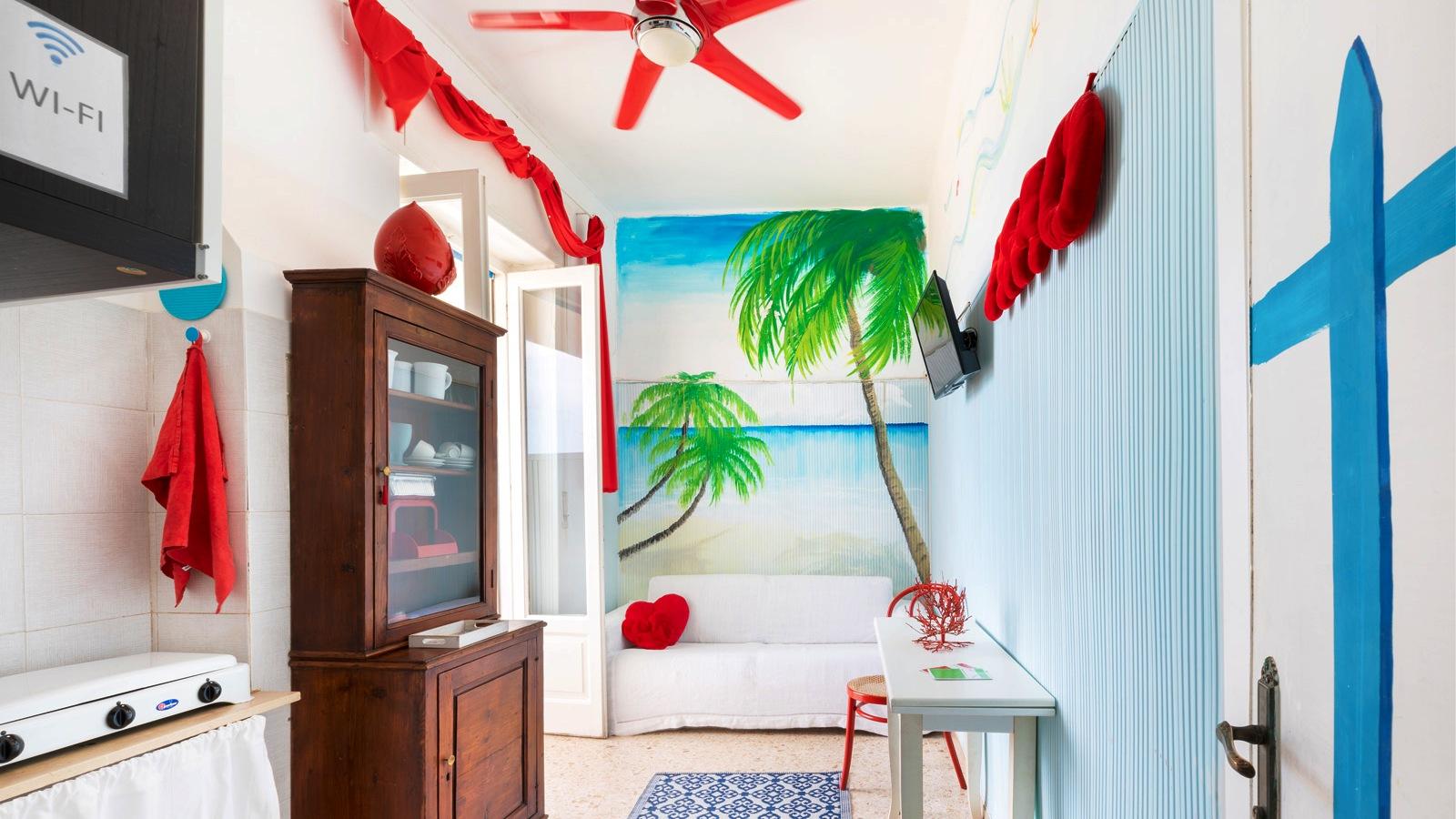 vacanze ostuni casa corallo soggiorno divano letto