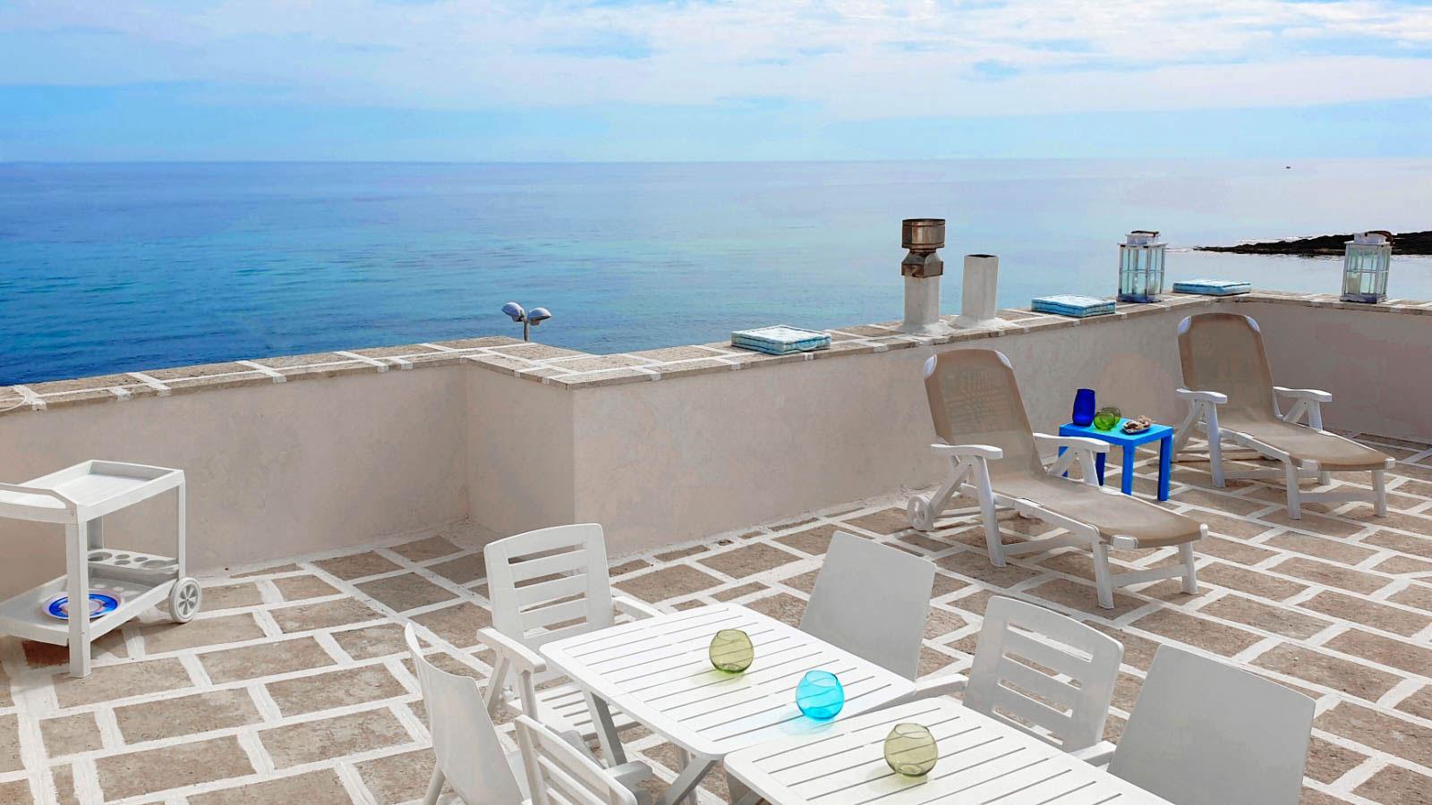 vacanze ostuni casa corallo terrazza con barbecue